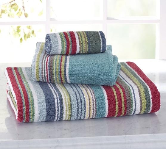 Bathroom Towels Striped: Shaheen Industries